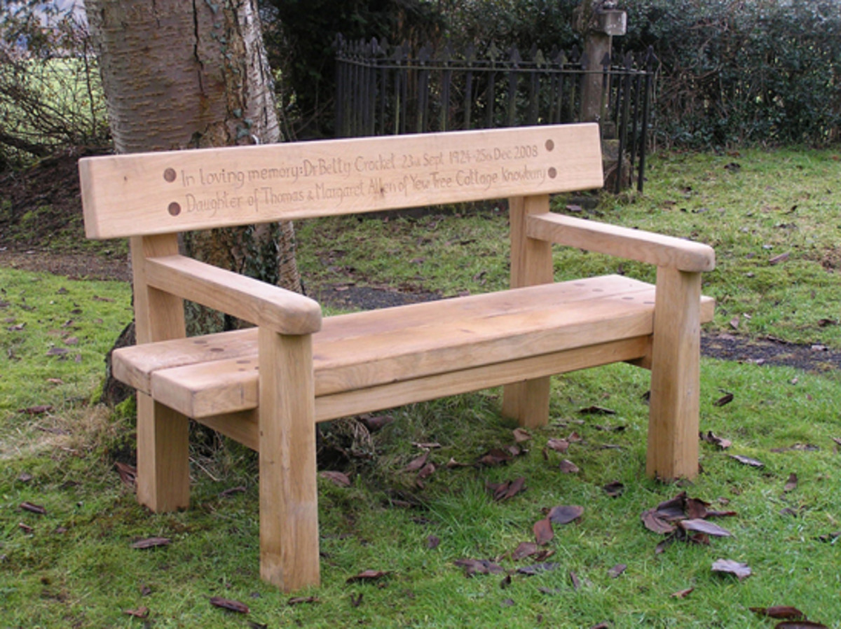 Wood Memorial Bench ~ Memorial benches hubpages