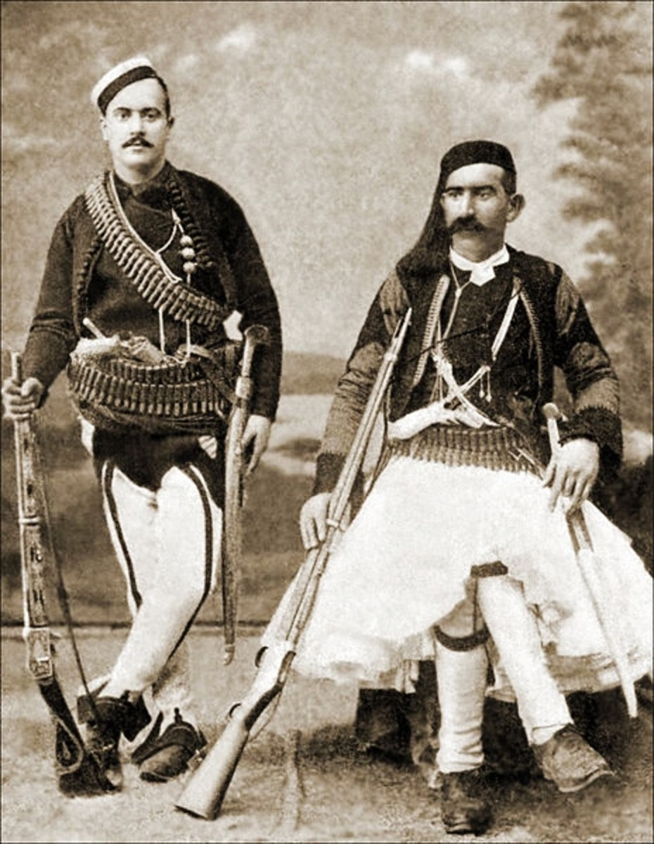 Two Albanian men, 1904 (public domain image)