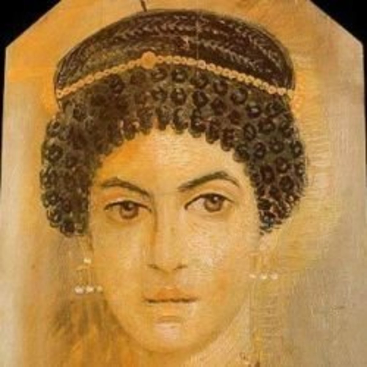 Funerary Portrait Painting of a Young Woman from the Roman Period