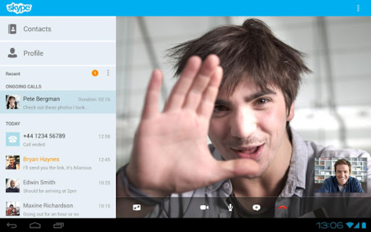 Skype for video calling