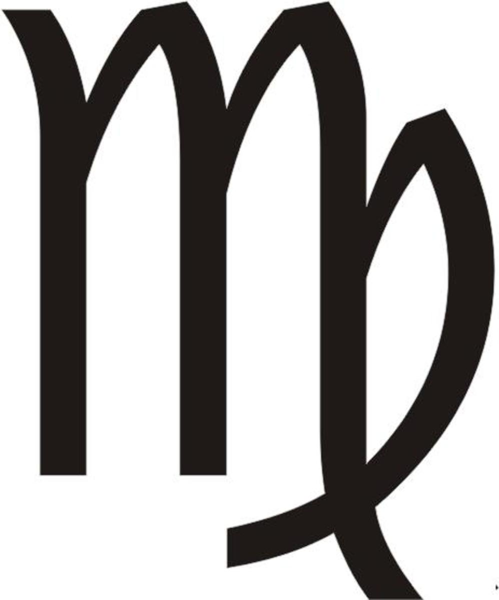 This is the Astrological Sign for Virgo the Virgin Maiden.  See how the M is crossing its legs like a lady?