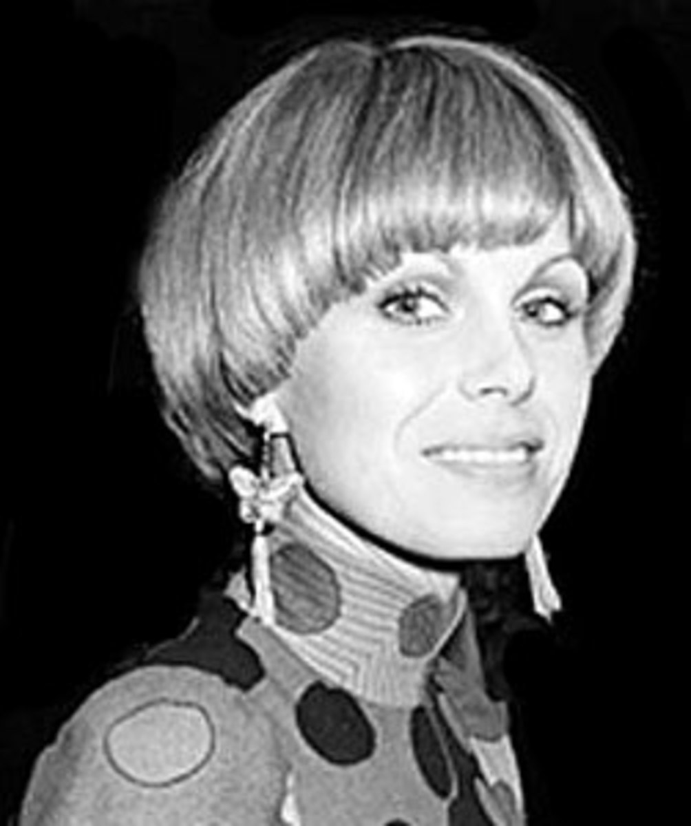 "70s short pageboy style, worn by Joanna Lumley in the TV show, ""The New Avengers"""