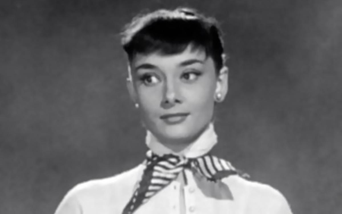 Very trendy for the 1950s. Audrey Hepburn's pert baby fringe