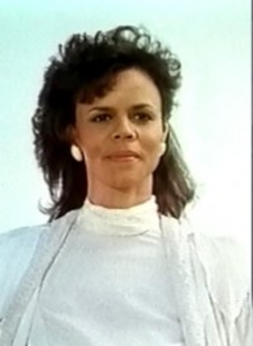 Deborah Pratt as the Archangel's beautiful assistant Marella
