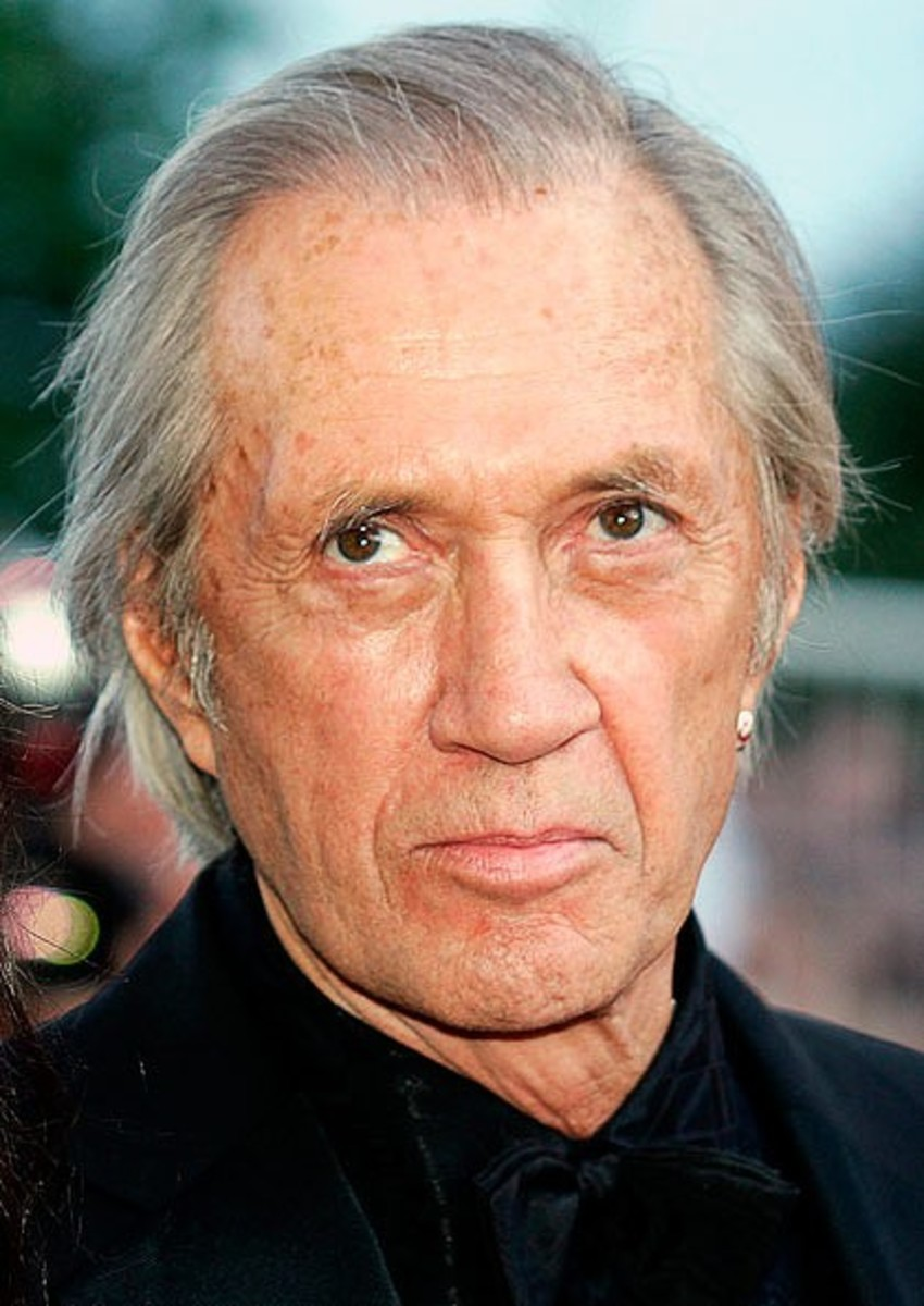 David Carradine guest starred as Robert Winchester, a scientist who codeveloped Airwolf with Dr. Moffet