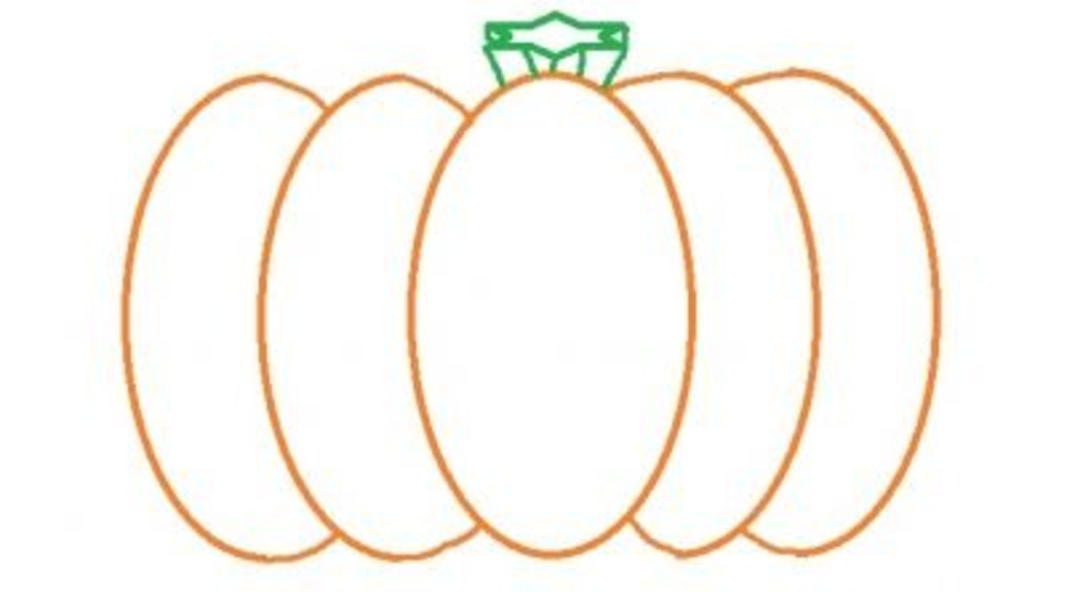 Using A Pattern For Pumpkin Painting