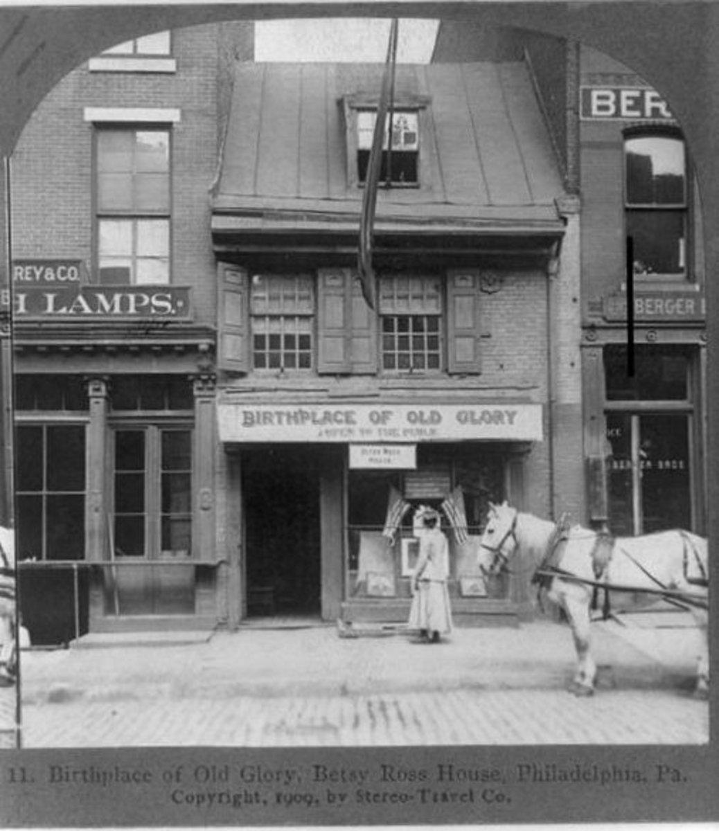 239 Arch Street, Betsy Ross house  circa 1898