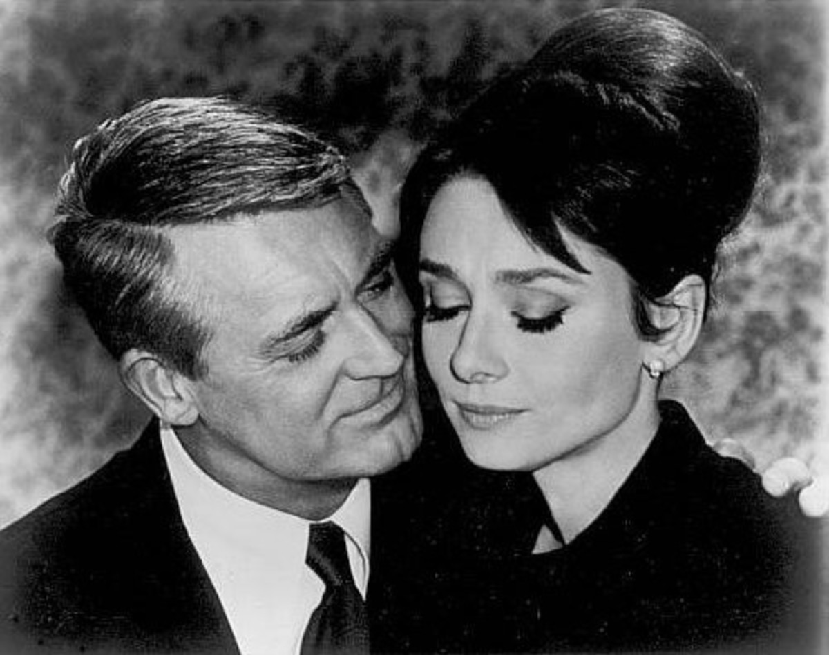"""Audrey Hepburn with Cary Grant in """"Charade"""""""