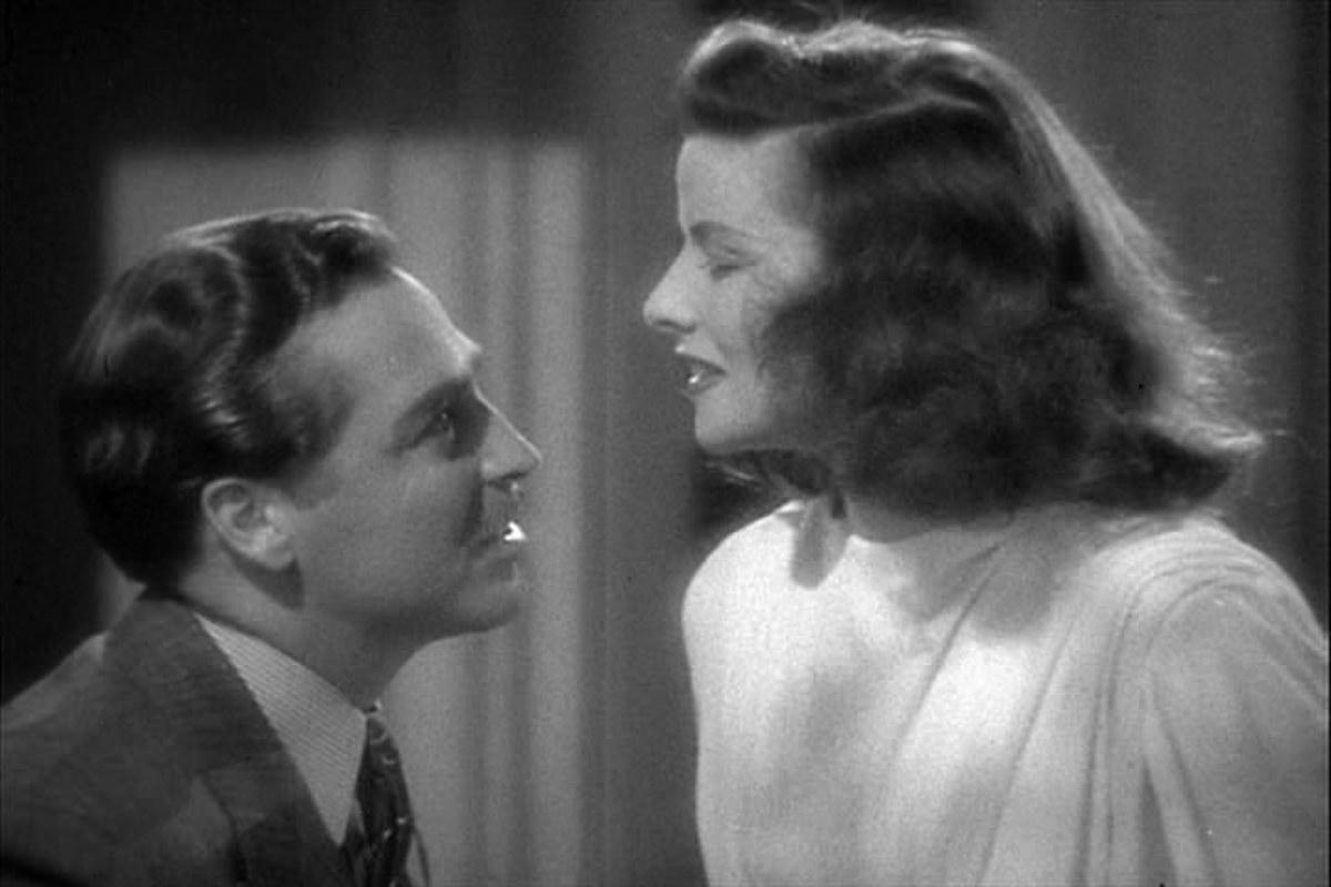 """Katharine Hepburn in """"The Philadelphia Story"""""""