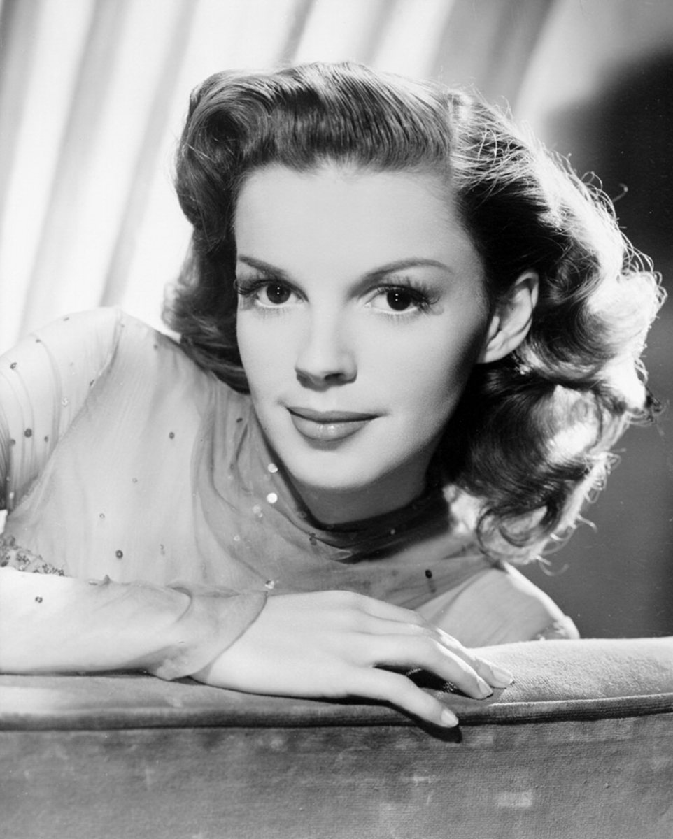 "Judy Garland in a publicity still from ""The Harvey Girls"""