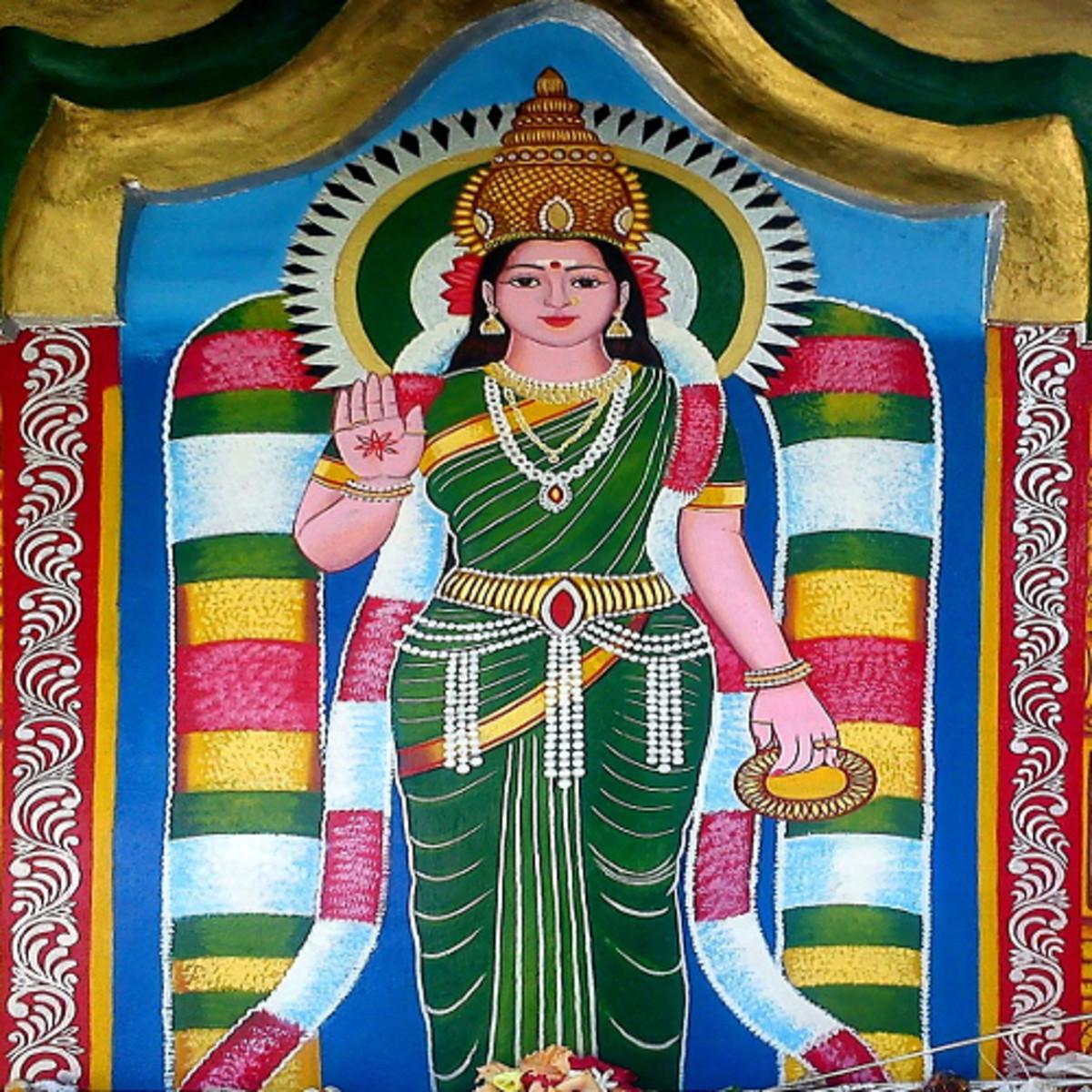 Goddess Kannaki. Silapathikaram