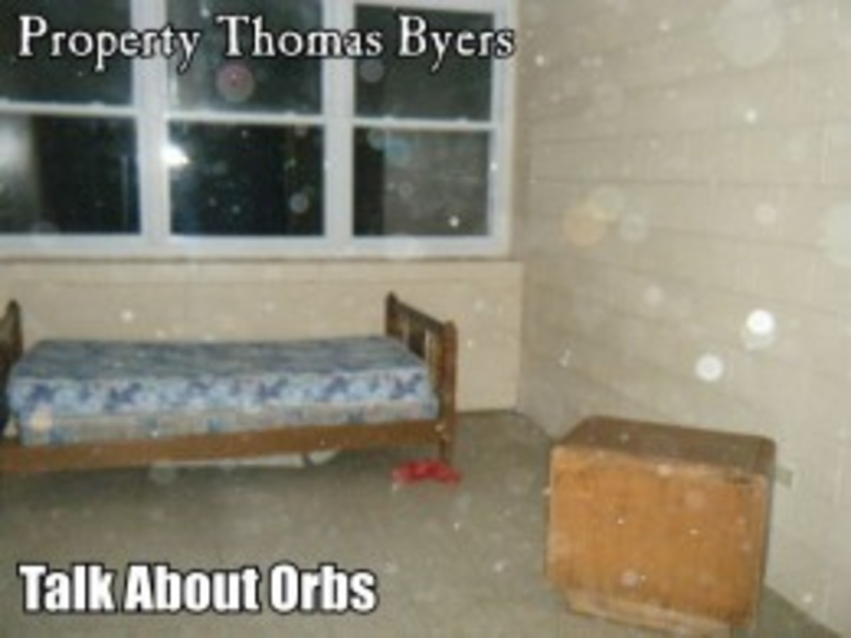 This is one of the best orb photos I ever took. I do believe these orbs are paranormal in nature.