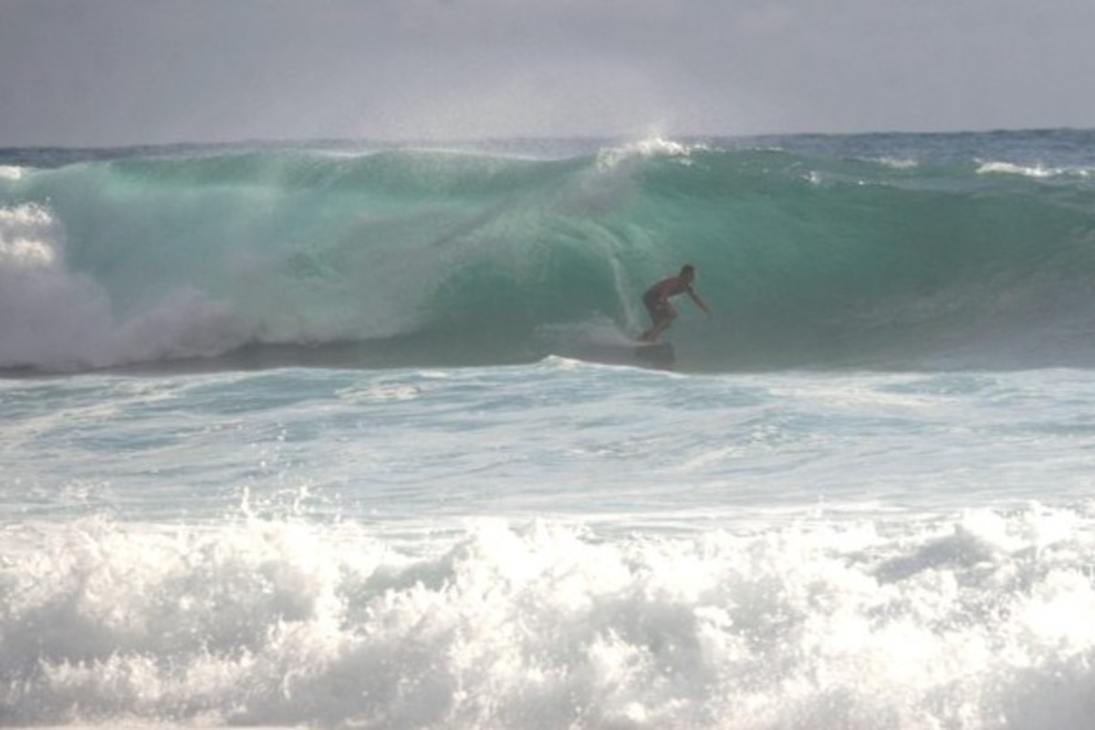 a surfer in Bucan Canot