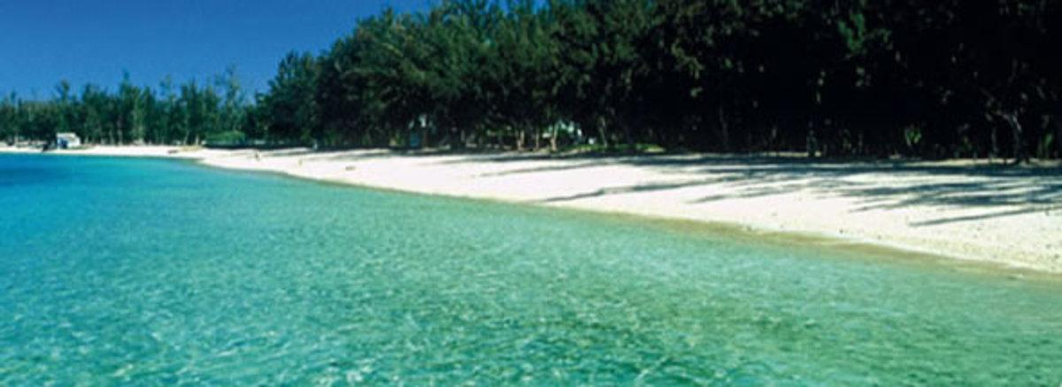 Reunion Island tropical paradise beach