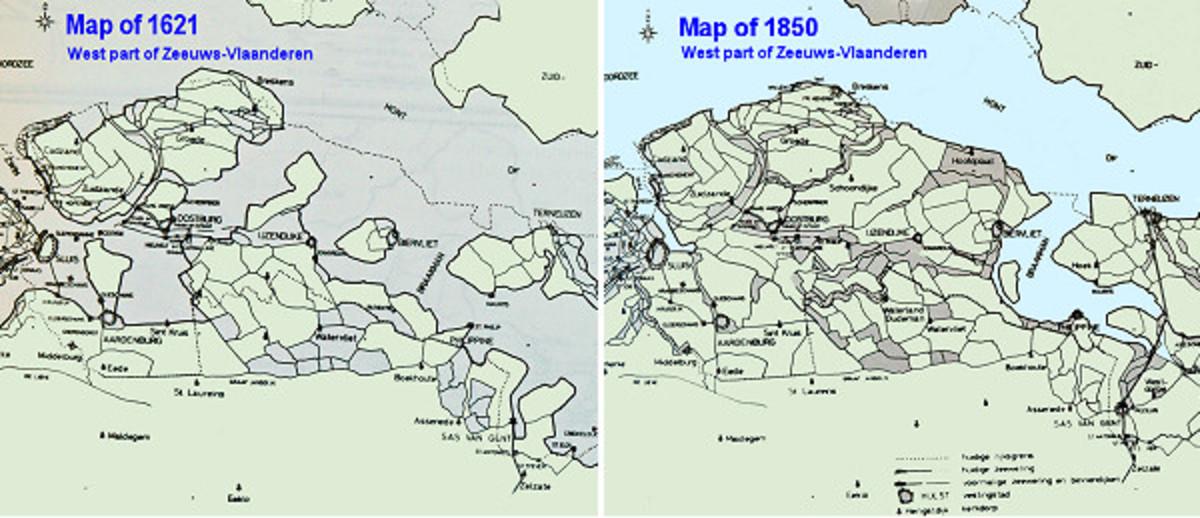Old maps of Zeeuws-Vlaanderen