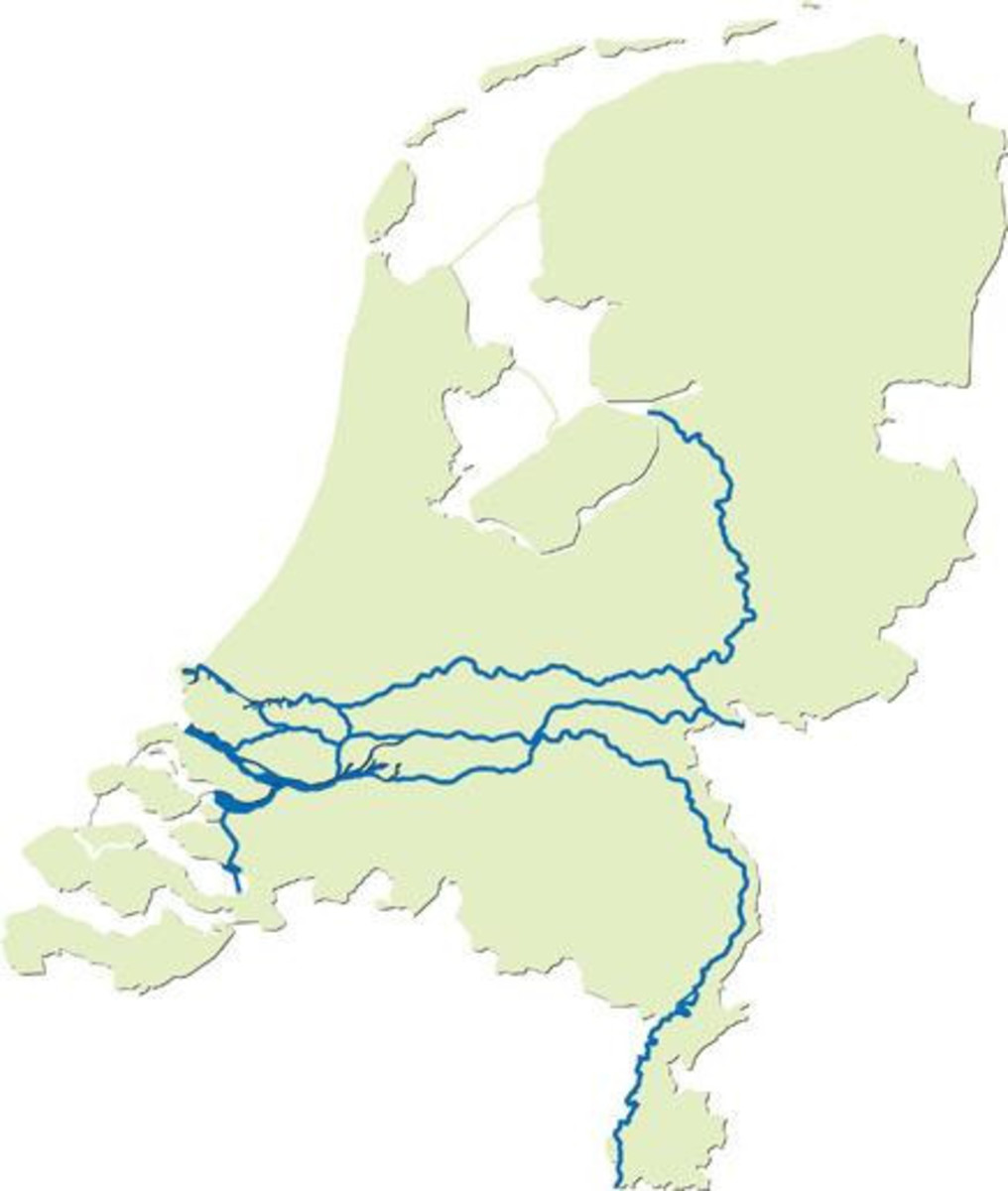 The Big Rivers in the Netherlands
