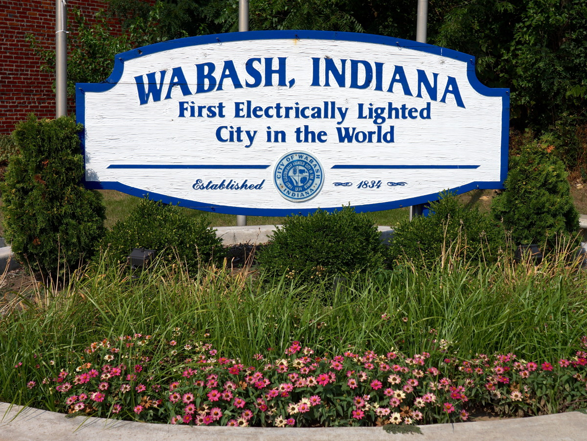 Wabash became the first electrically lighted city on March 31, 1880