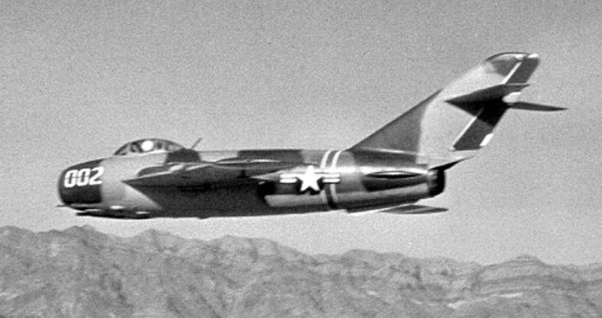A MiG-17 as part of Project HAVE DRILL