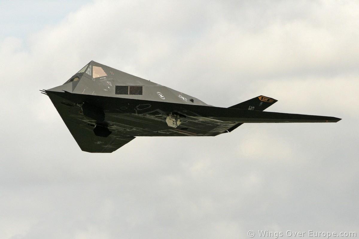 An F-117 Nighthawk somewhere over Europe