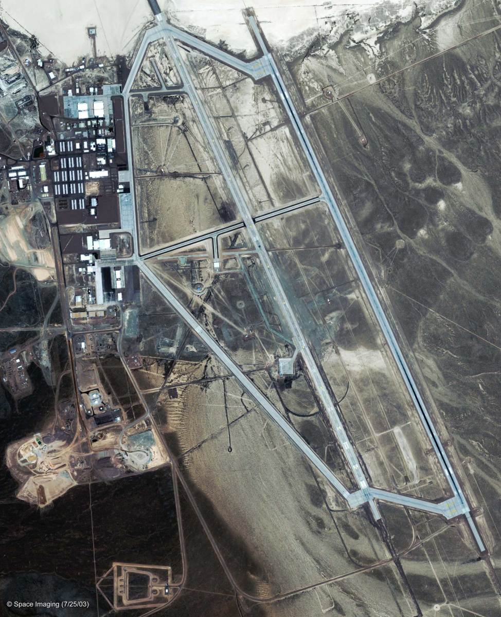 Area 51 Satellite Image 2003