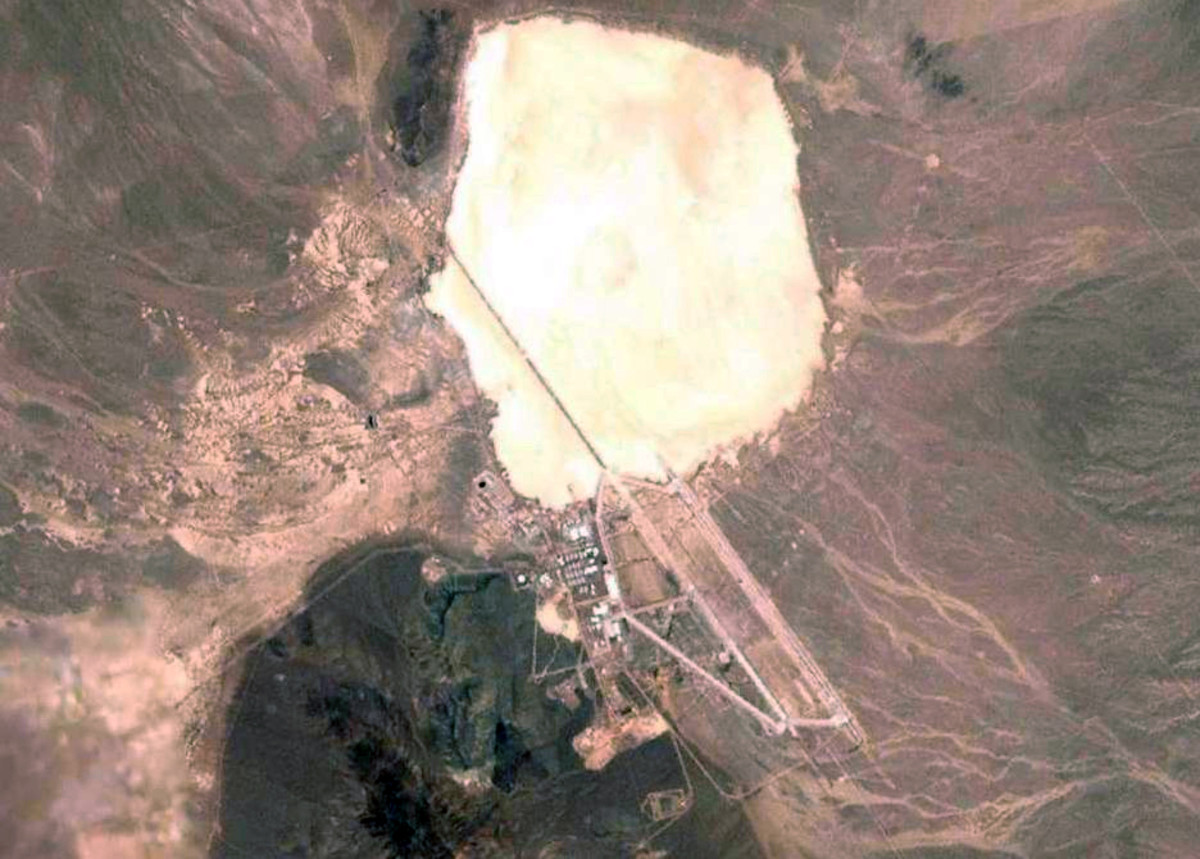 Aerial Photograph of Area 51 and Groom Dry Lake