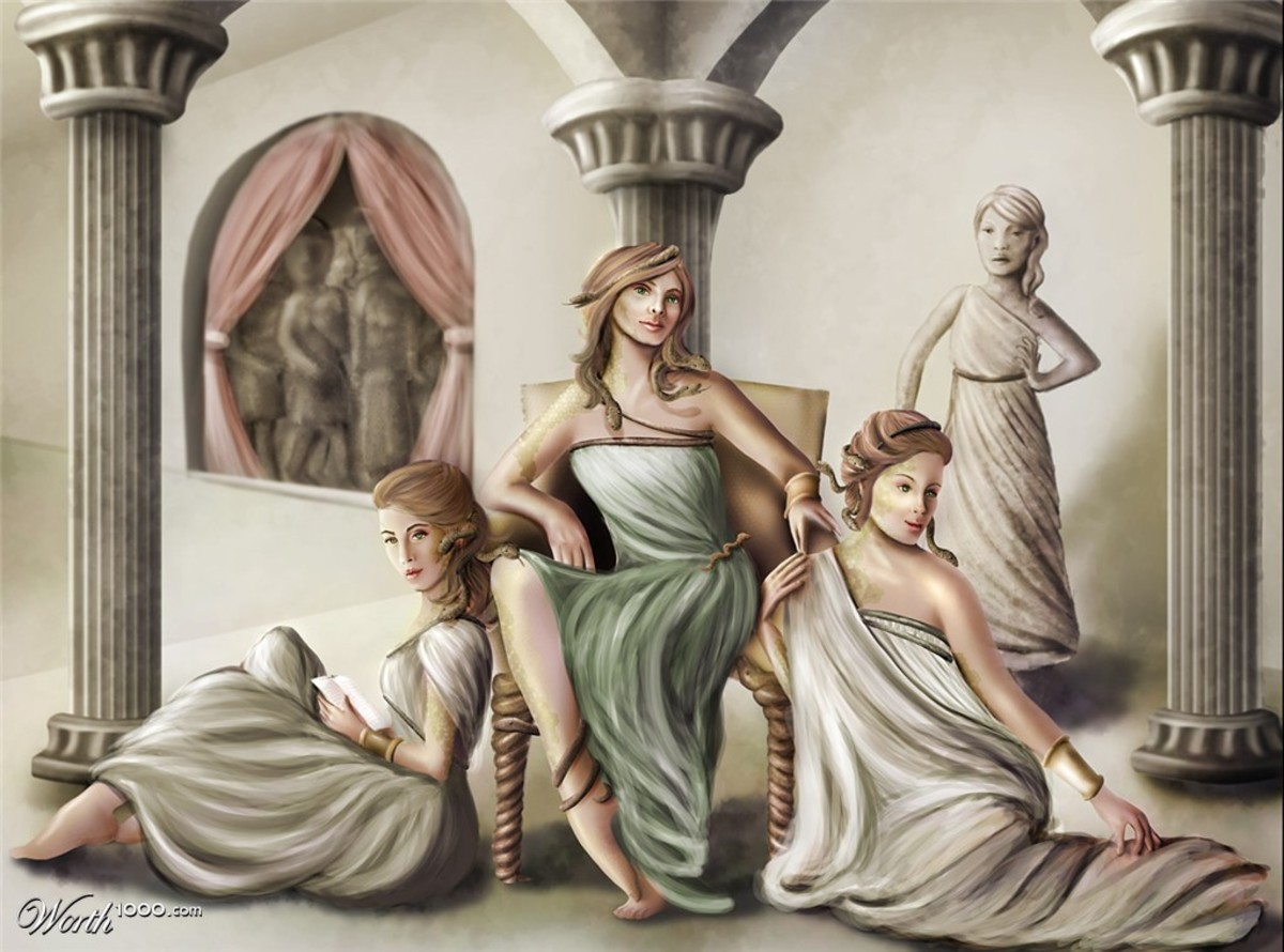 Gorgon Medusa And Her Sisters
