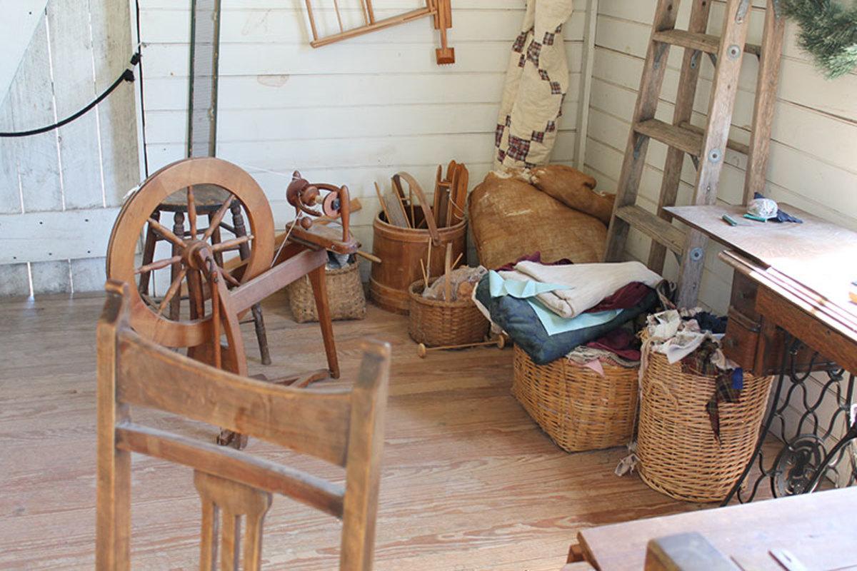 A vintage sewing room