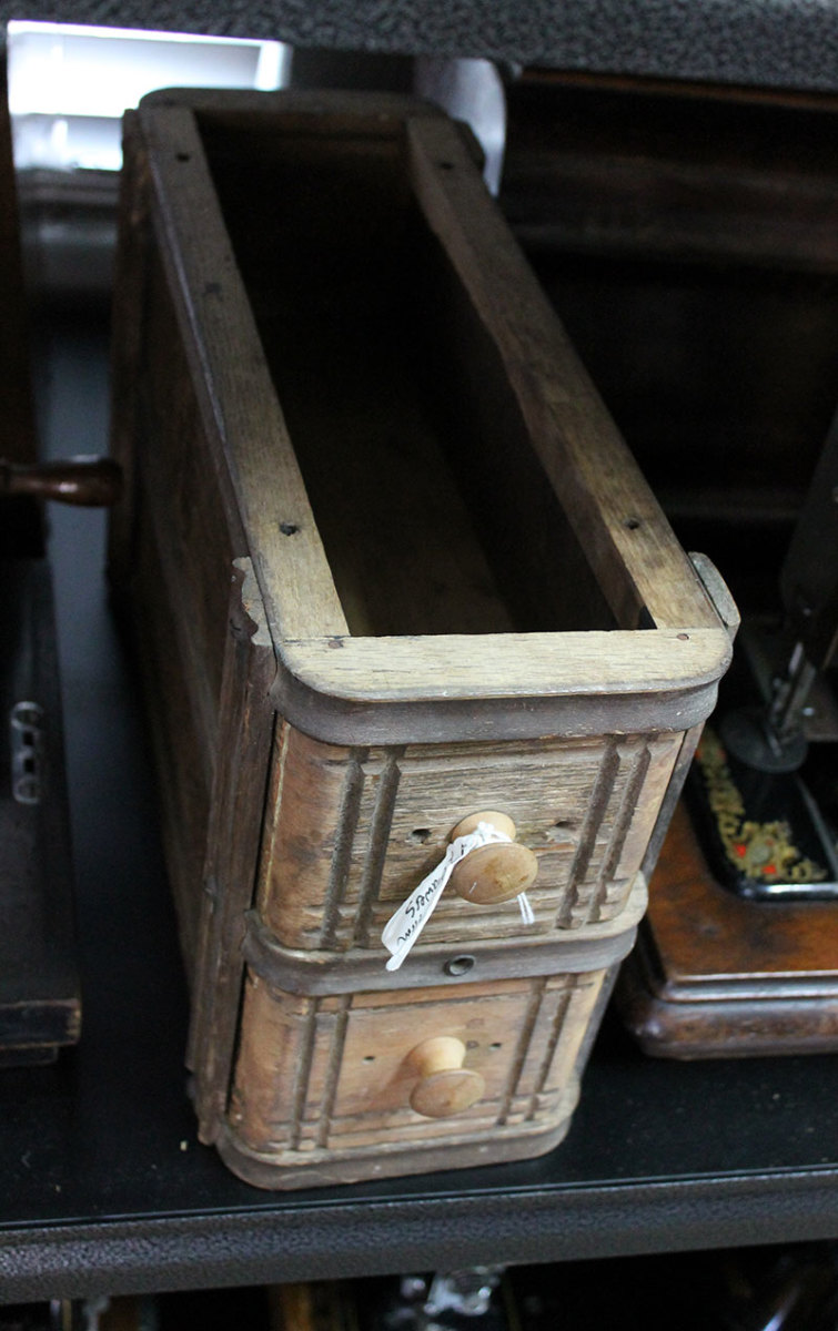Old sewing cabinet drawers out lasted many of the cabinets