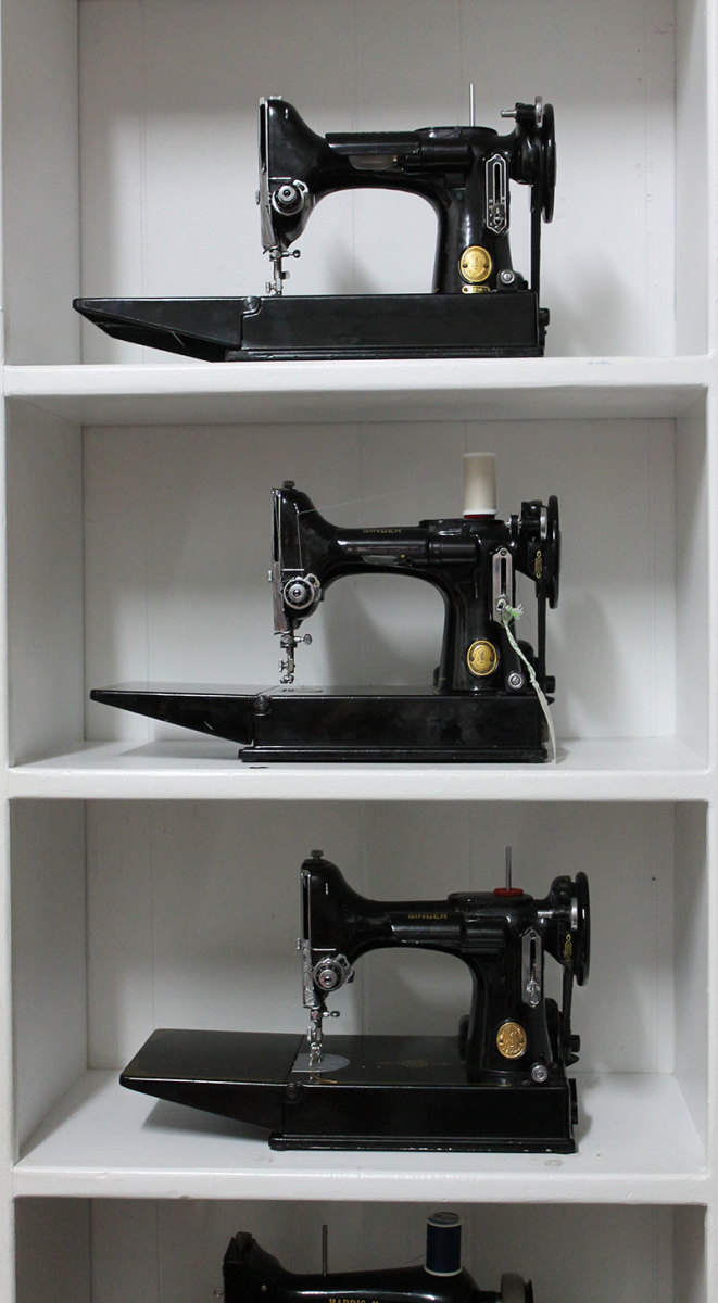 The classic Singer Featherweight machines