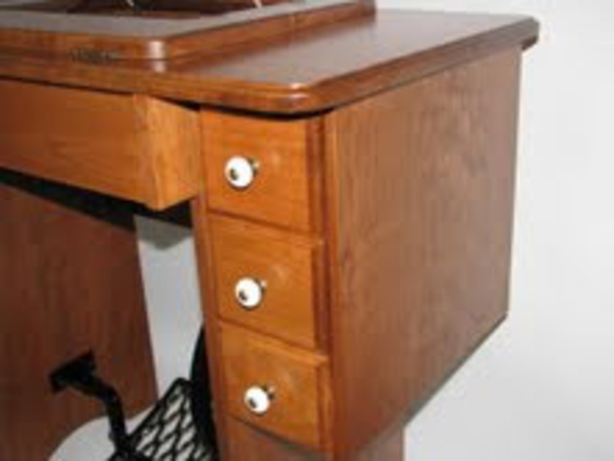 Reproduction cabinets look very much like the old vintage cabinets.