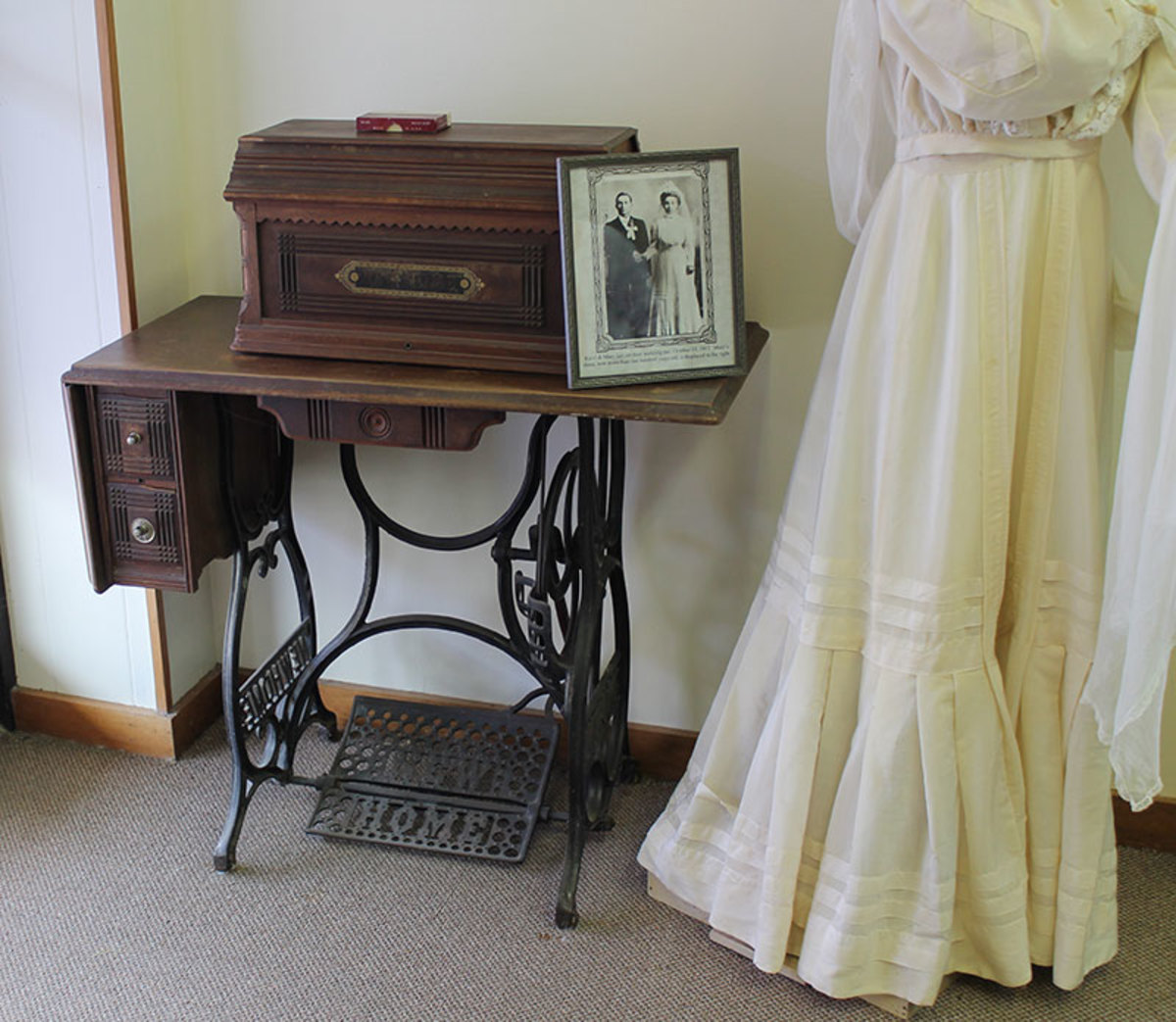Treadle sewing machines were one of the main furnishings in most households in the 1800s to mid 1900s