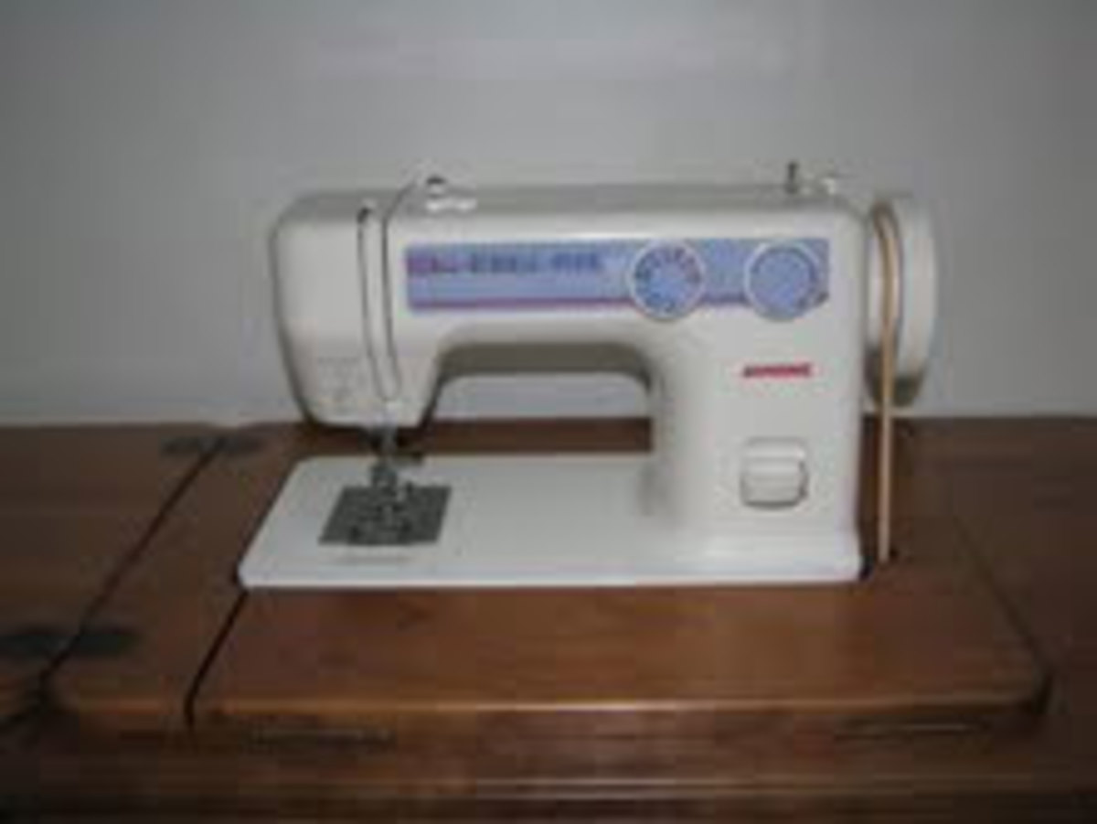 The Janome 712T machine has become very popular for those using a modern treadle.