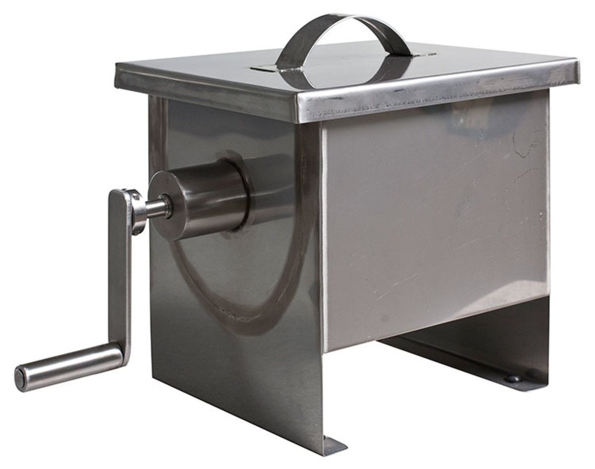 Eight gallon hand crank stainless churn from Cottage Craft Works.com