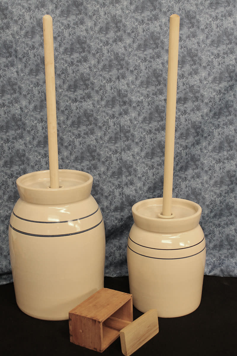 Reproduction pottery dash churns from Cottage Craft Works. com