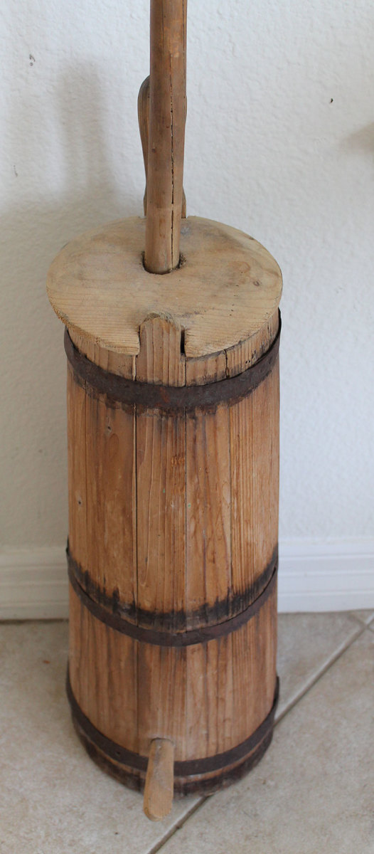 This is a dash churn that was brought over from Europe.  These are still being used in many countries.