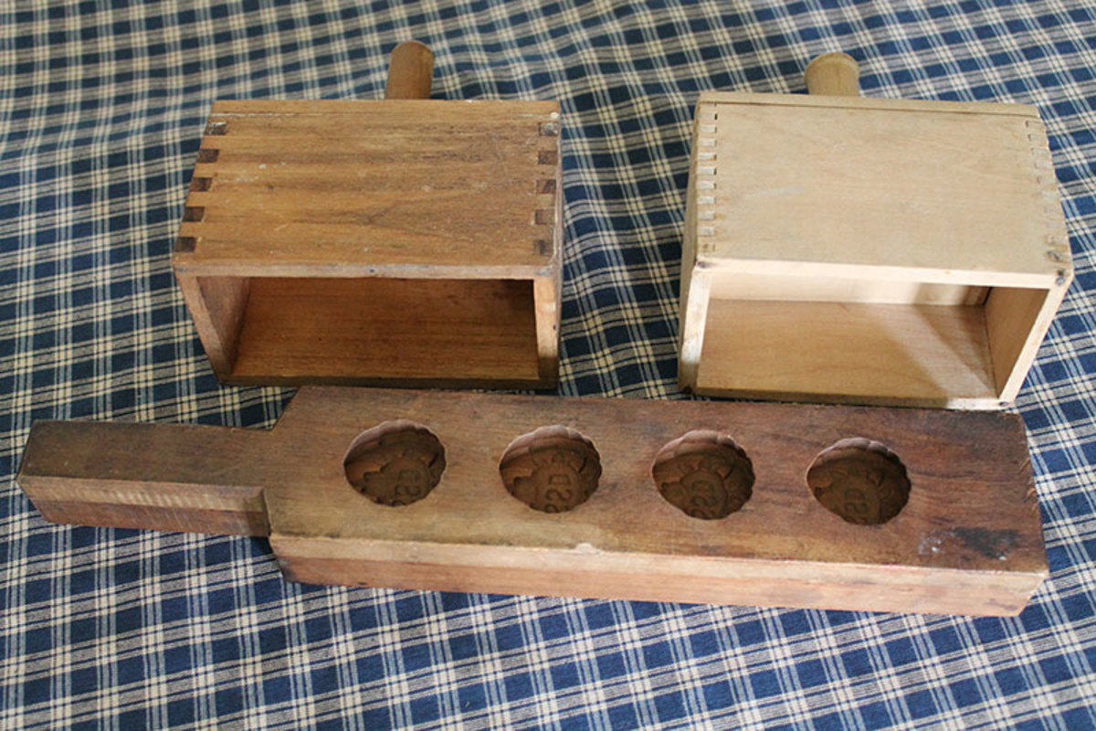 Vintage butter molds.  The long paddle made individual patties with a hotel logo in the middle.