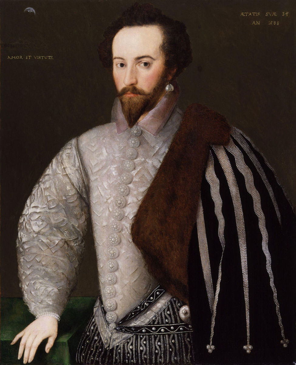 Walter Raleigh, 1585