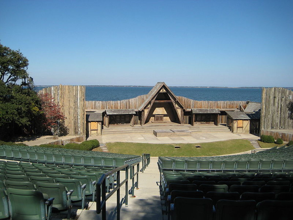 Lost Colony Theater on Roanoke Island where re-enactment plays are performed