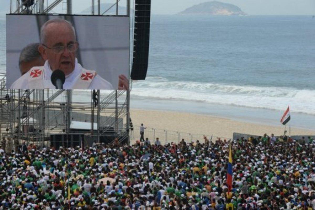 The pope mass