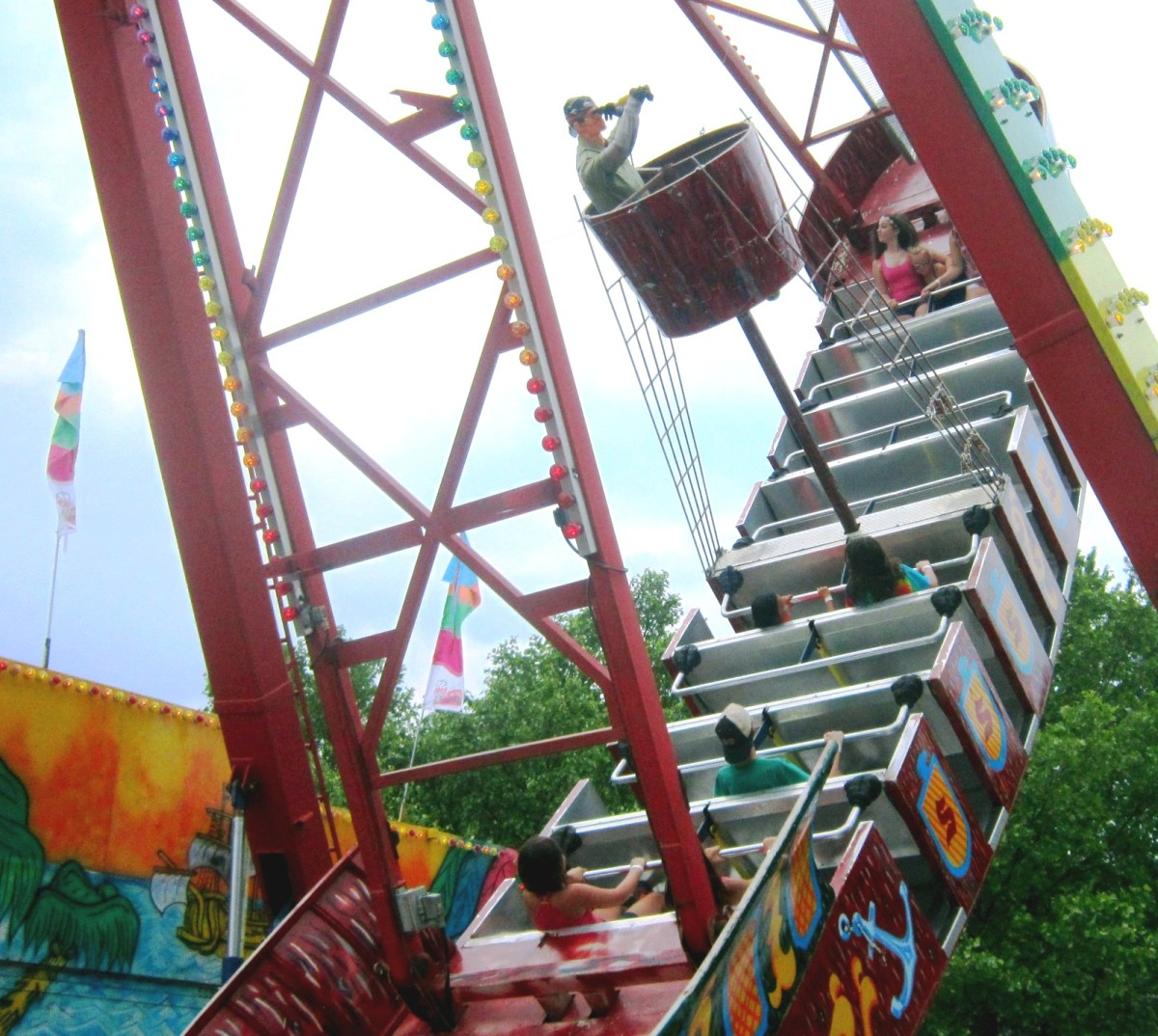 """The Pirate Ship"", a variation on the carnival ride ""The Swinging Ship."""
