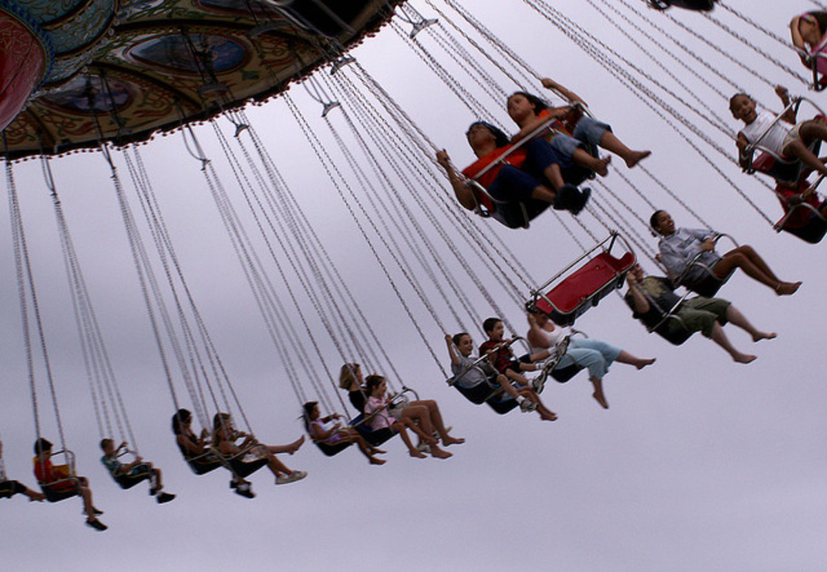 The swing ride at your local fair ain't the swingset in your backyard...