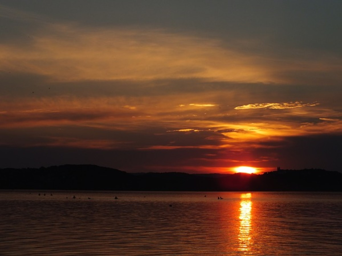 Each sunset closes the day with brighter hopes for tomorrow at HubPages.
