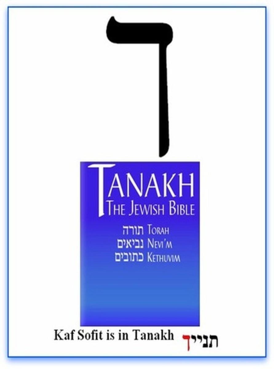 Hebrew Alphabet Letter Kaf or Khaf Sofit – האלפבית אוֹת  כף סופית