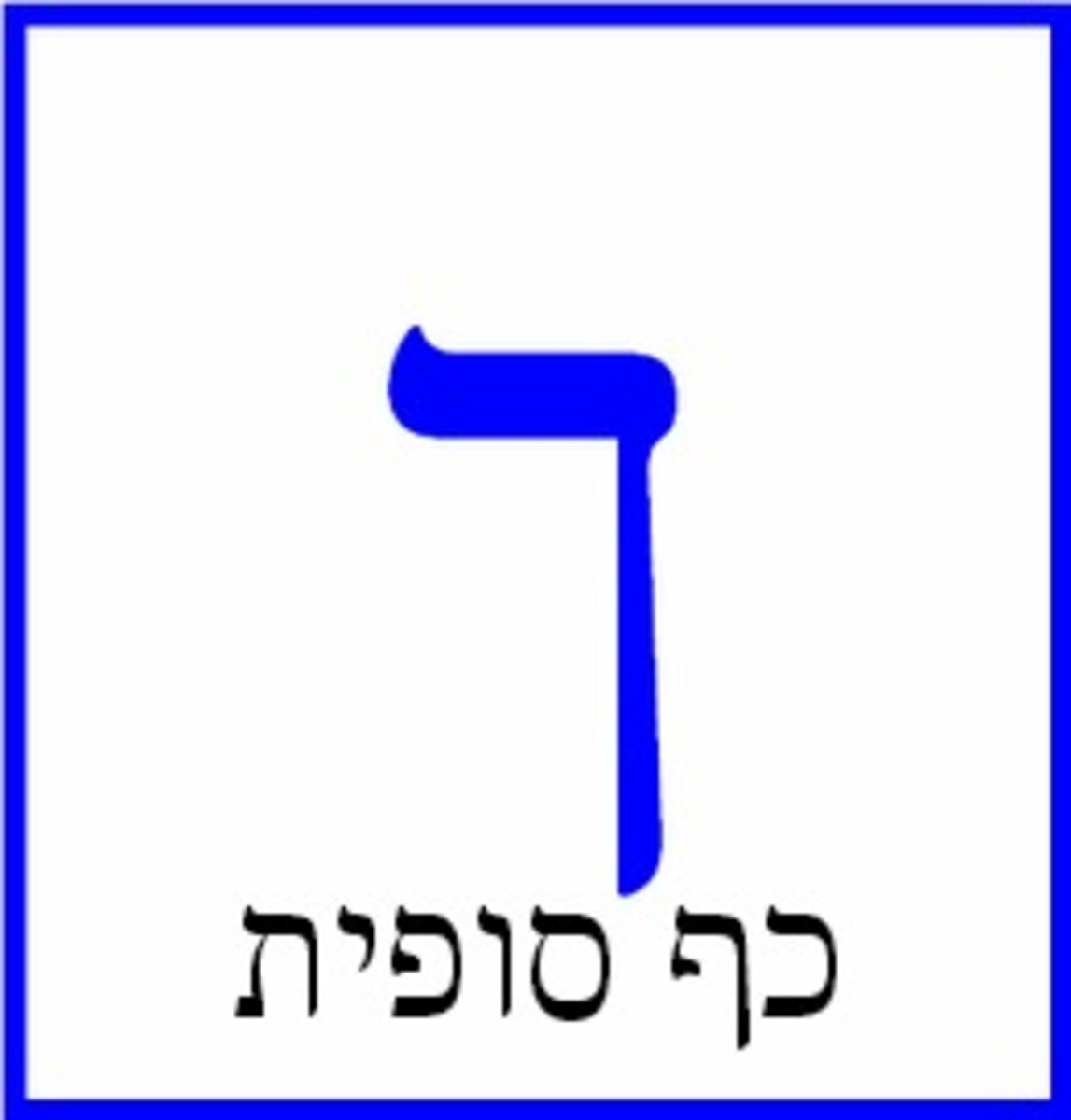The Hebrew Letter Kaf or Khaf Sofit – כף סופית