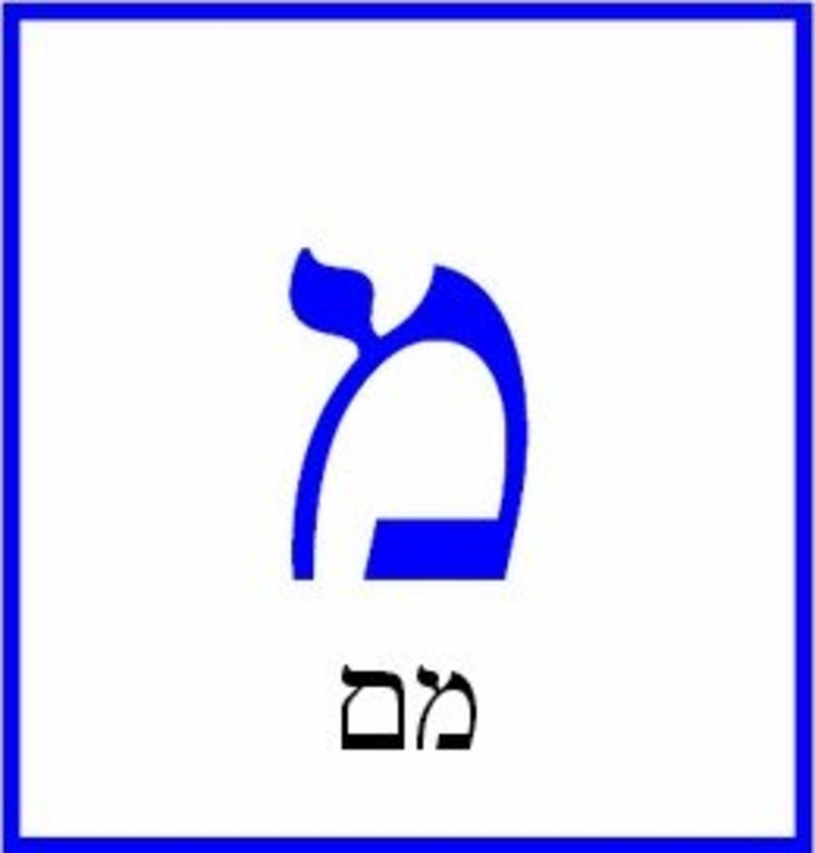 The Hebrew Letter Mem – מם
