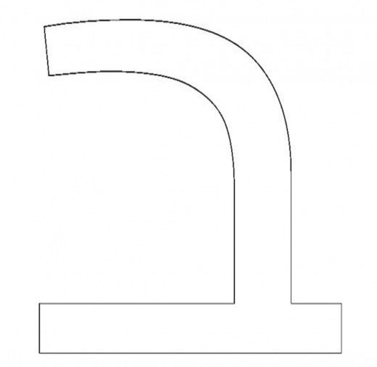 Hebrew Letter Bet Coloring Page - דף צביעה אוֹת  בית