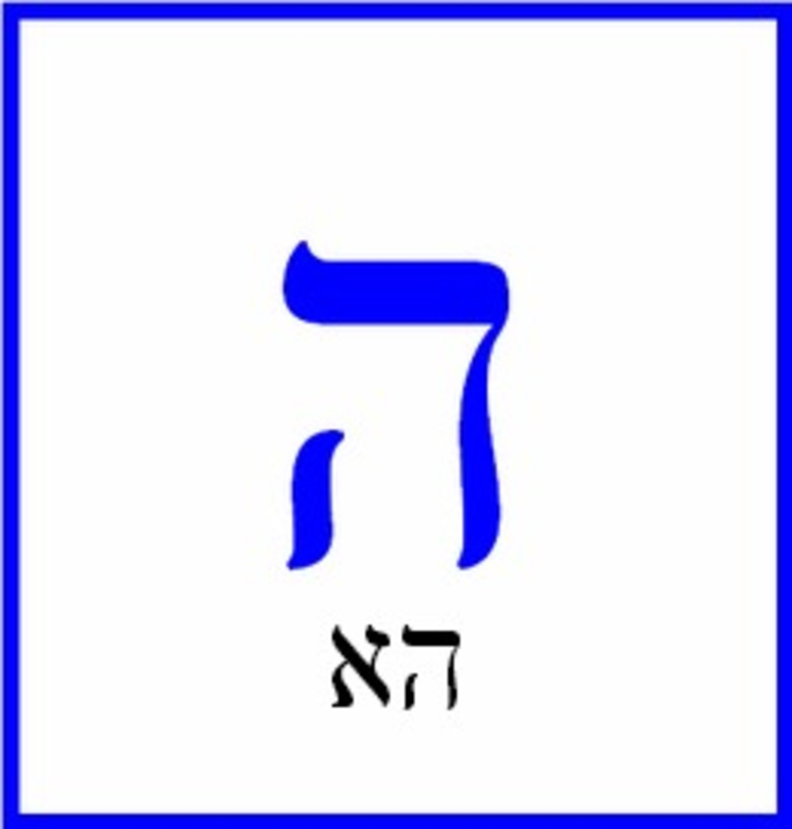 The Hebrew Letter Hey – הא