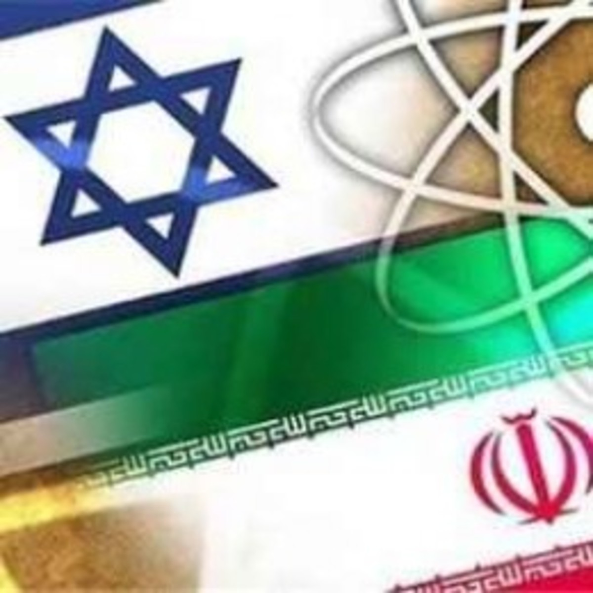 Flags of Israel and Iran