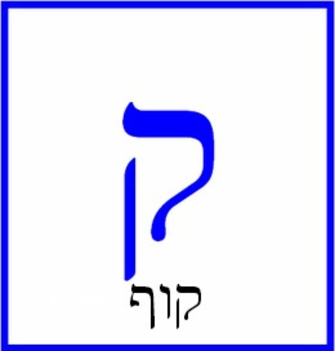 Hebrew Letter Kof – קוף