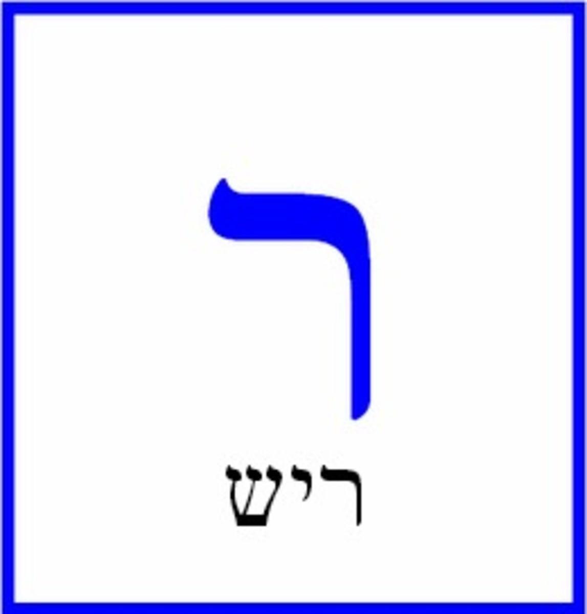 Hebrew Letter Resh – ריש